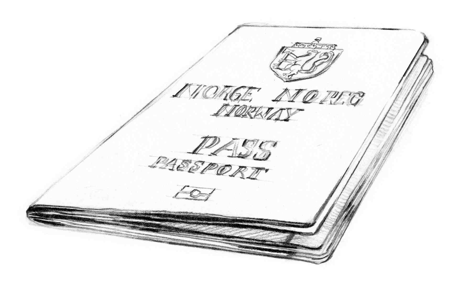 Illustrasjon av et norsk pass
